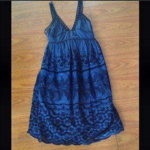 Dresses & Skirts - Silk/rayon blend backless festival A line dress